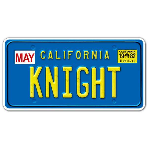 Aufkleber: Knight Rider Kraftfahrzeugkennzeichen