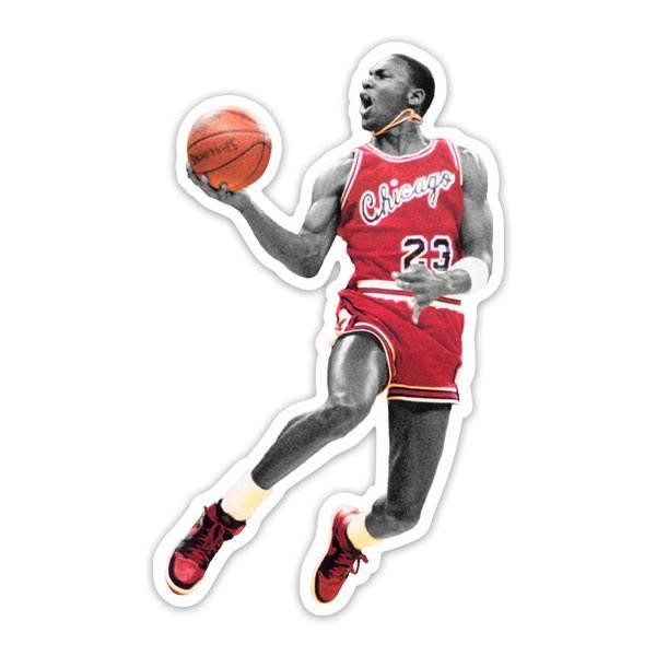 Aufkleber: Michael Jordan