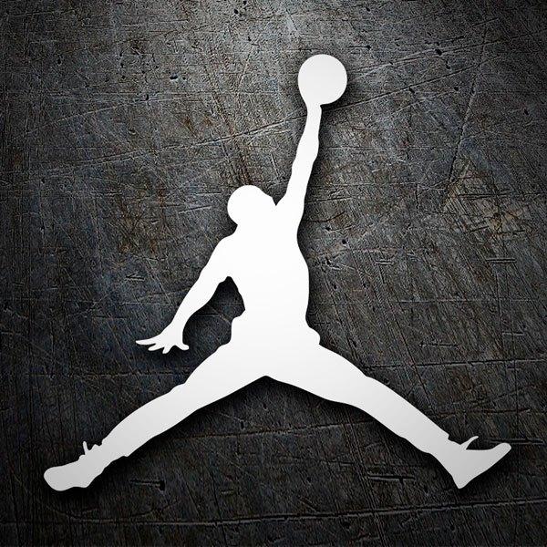 Aufkleber: Schattenriss Air Jordan