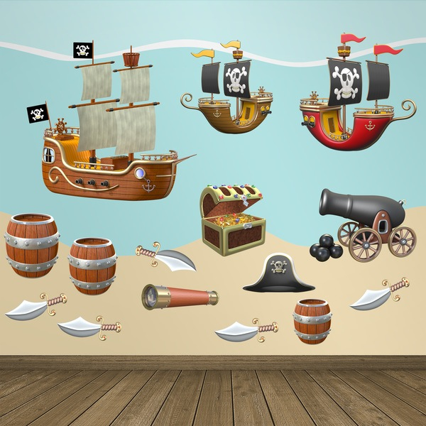 Kinderzimmer Wandtattoo: Pirate-Kit