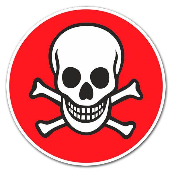 Aufkleber: red skull