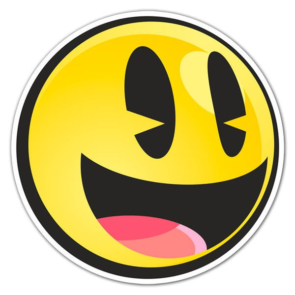 Aufkleber: Lächeln
