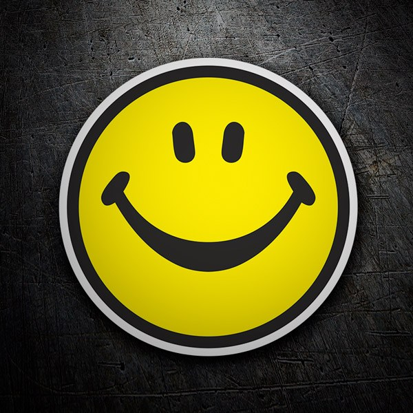 Aufkleber: Smiley face 1