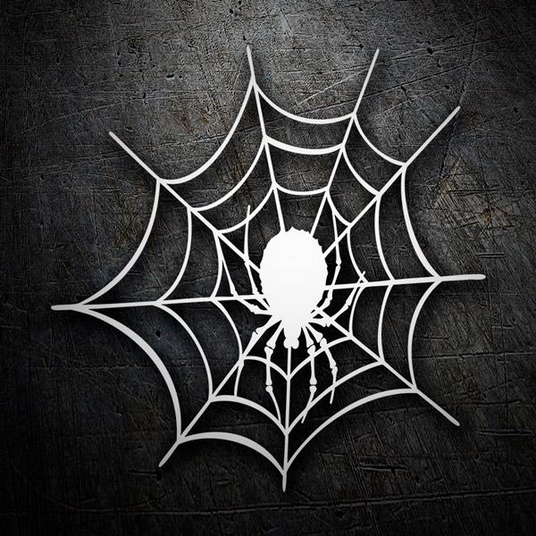 Aufkleber: Spinnennetz