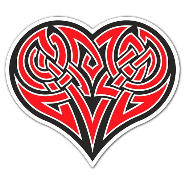 Aufkleber: Tribal Heart