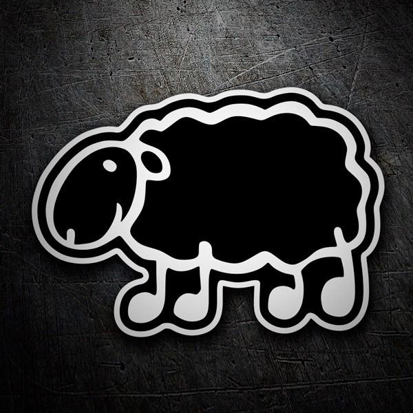 Aufkleber: Menhadenöl schwarze Schafe