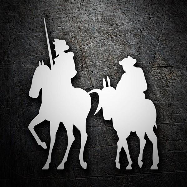 Aufkleber: Don Quijote und Sancho