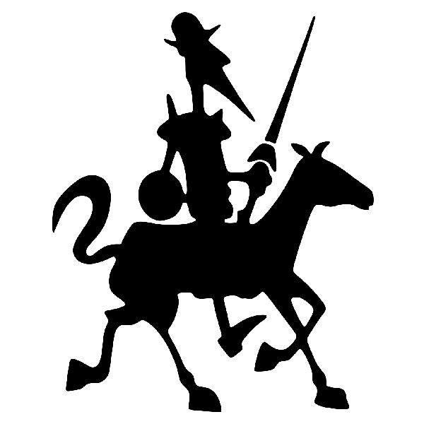 Aufkleber: Don Quixote