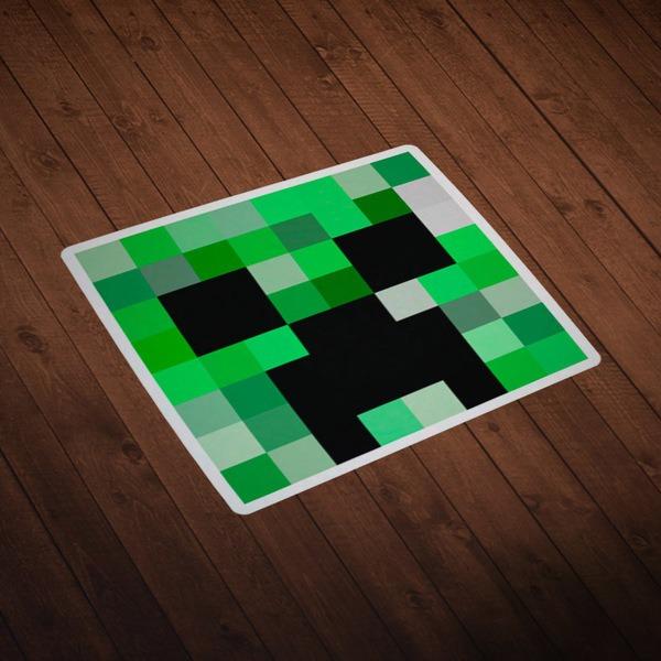 Wandtattoos: Minecraft Hautkopf 1
