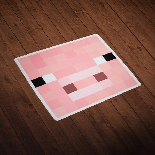 Wandtattoos: Minecraft Hautkopf 2