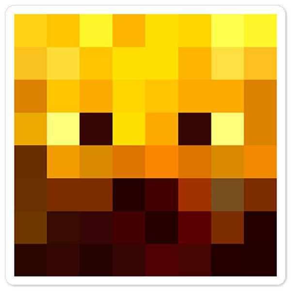 Wandtattoos: Minecraft Hautkopf 3