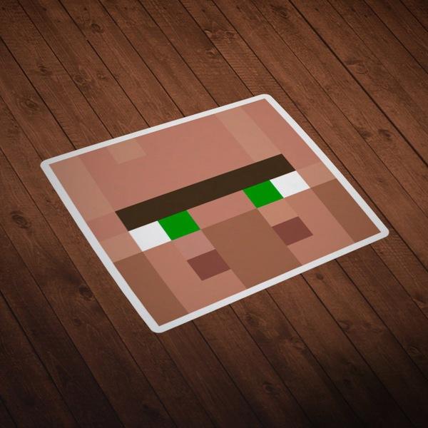 Wandtattoos: Minecraft Hautkopf 4