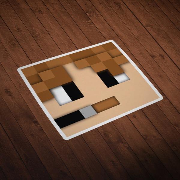 Wandtattoos: Minecraft Hautkopf 5
