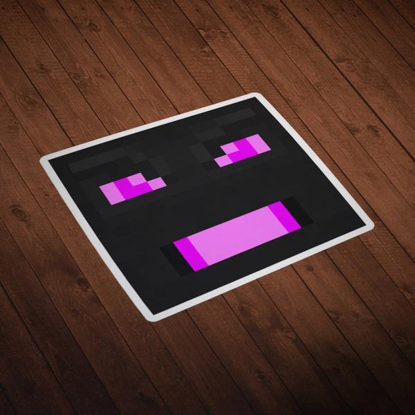 Wandtattoos: Minecraft Hautkopf 7