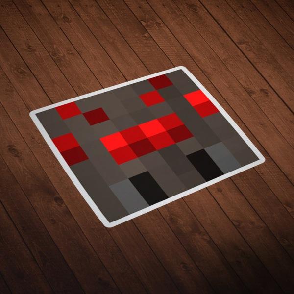 Wandtattoos: Minecraft Hautkopf 8