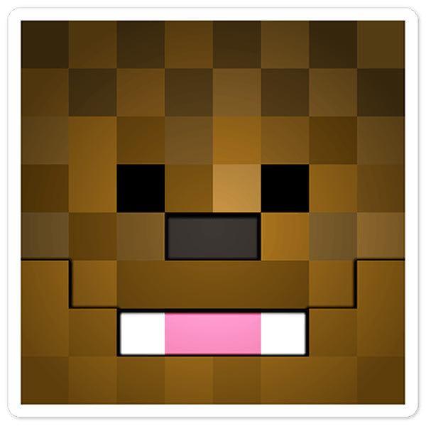 Wandtattoos: Minecraft Hautkopf 9