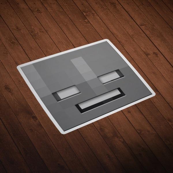 Wandtattoos: Minecraft Hautkopf 10