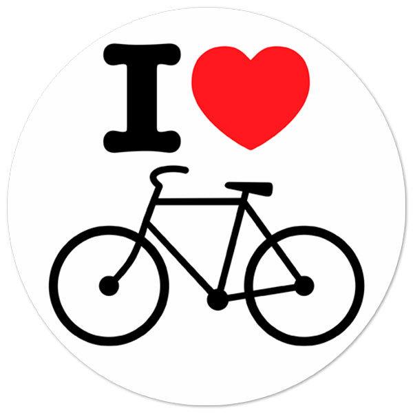 Aufkleber: I love vélo