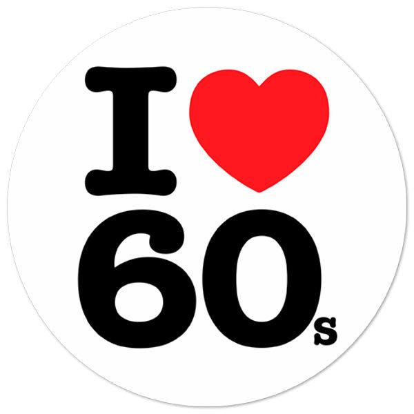 Aufkleber: I love 60s