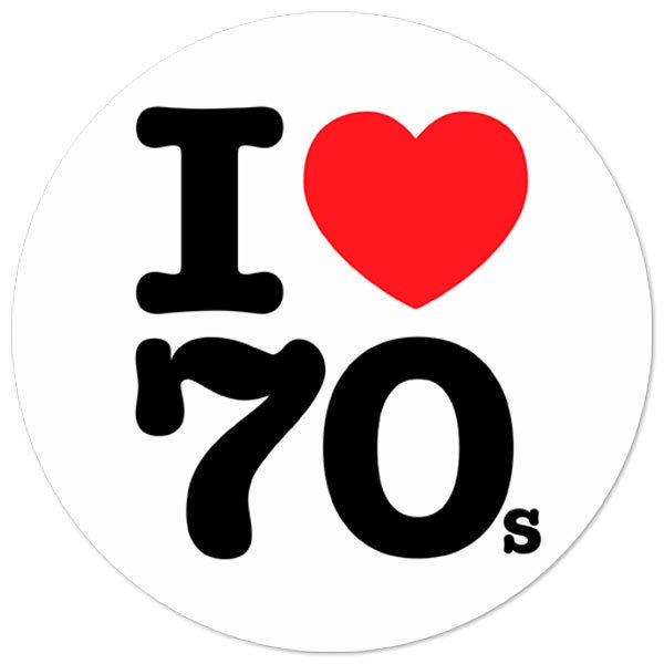 Aufkleber: I love 70s