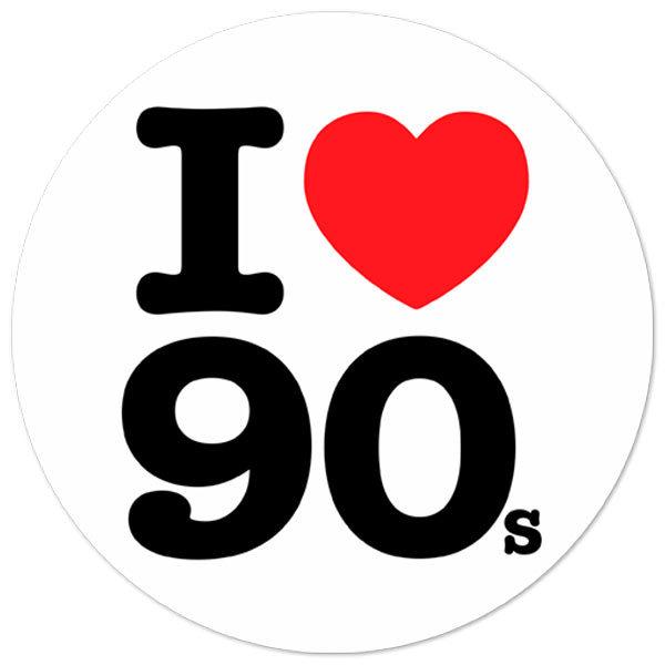 Aufkleber: I love 90s