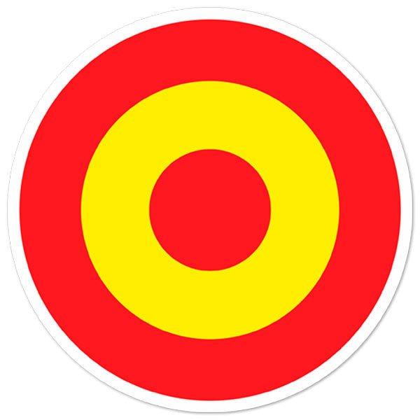 Aufkleber: Kreis Spanien Flagge