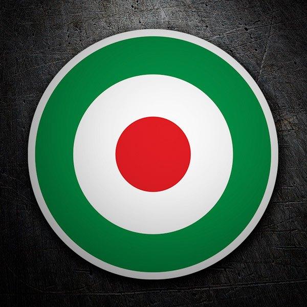 Aufkleber: Italien-Flaggen-Kreis