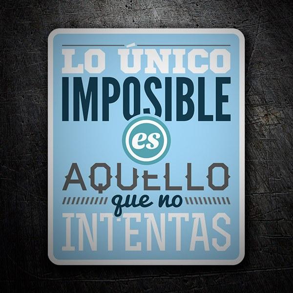 Aufkleber: Lo único imposible...