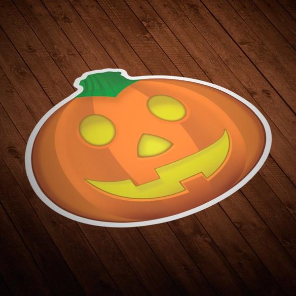 Aufkleber: Halloween-Kürbis