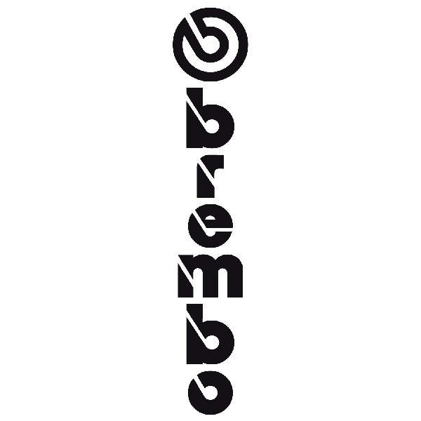 Aufkleber: Vertikale Brembo