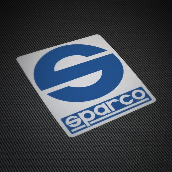 Aufkleber: Sparco Logo auf weißem Hintergrund