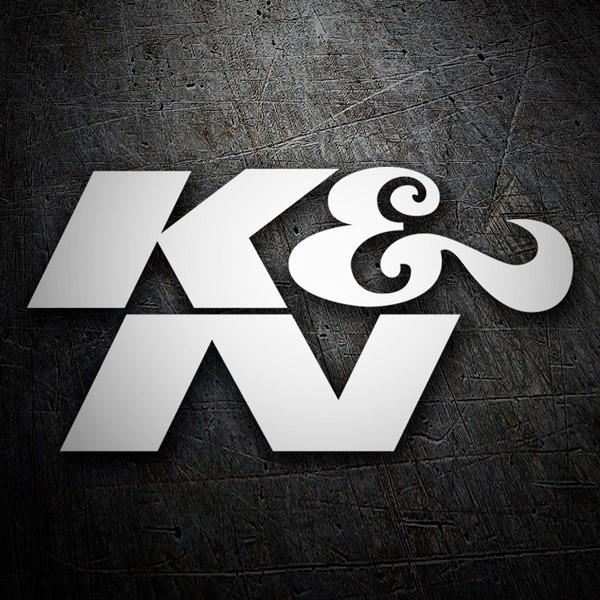 Aufkleber: K&N Logo