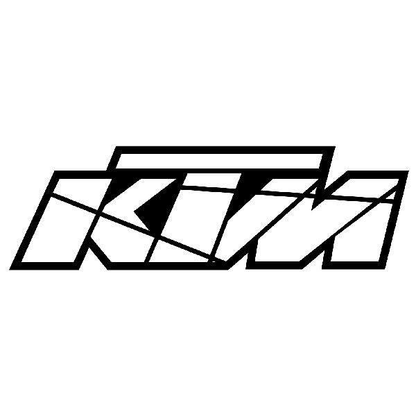 Aufkleber: KTM logo 2