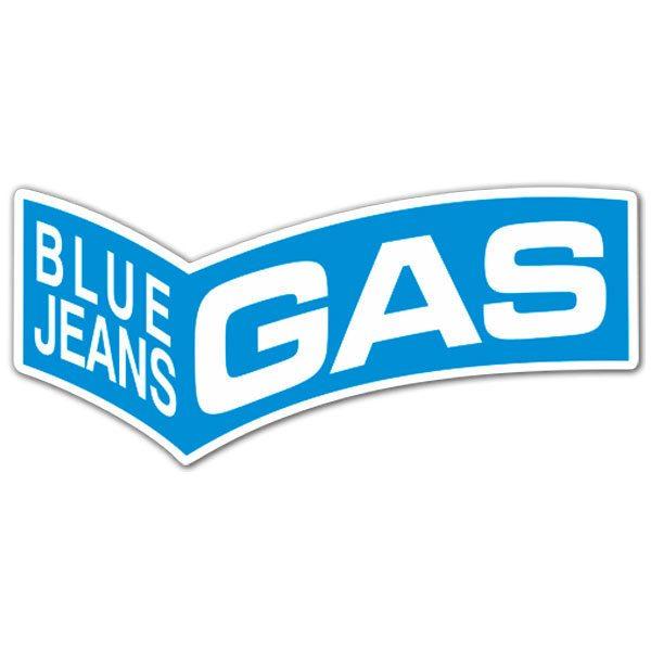 Aufkleber: Gas Blue Jeans 3