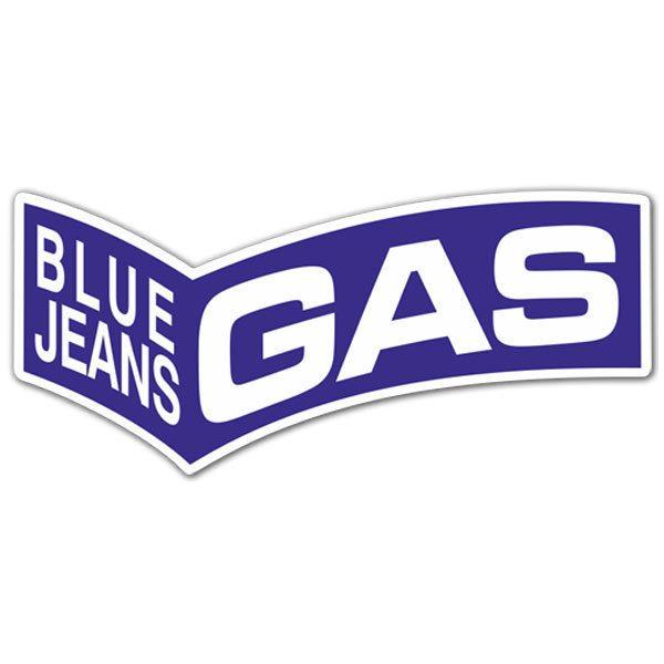 Aufkleber: Gas Blue Jeans 4