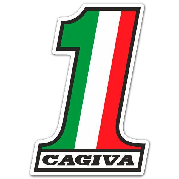 Aufkleber: Cagiva Nummer 1