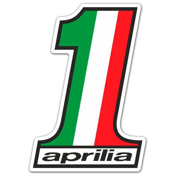 Aufkleber: Aprilia Nummer 1