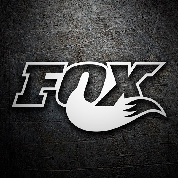 Aufkleber: Fox logo 3
