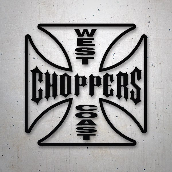 Aufkleber: West Choppers Coast 3