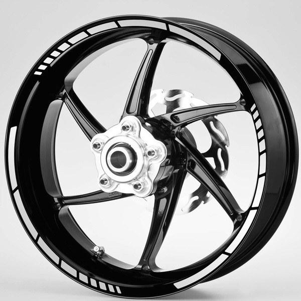 Aufkleber: Moto GP Style kit Felgenrandaufkleber 10 mm.
