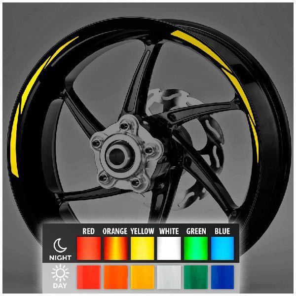 Aufkleber: Neon MotoGP Style 2 kit Felgenrandaufkleber