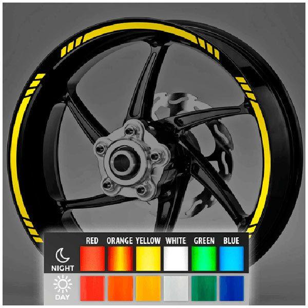Aufkleber: Neon MotoGP Style 3 kit Felgenrandaufkleber
