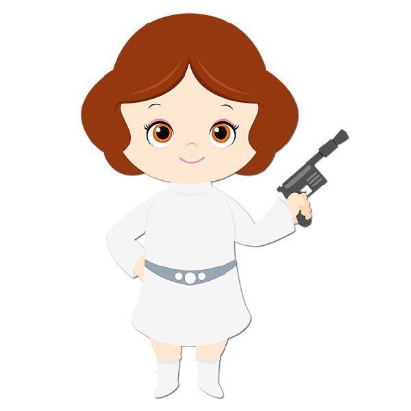 Kinderzimmer Wandtattoo: Prinzessin Leia
