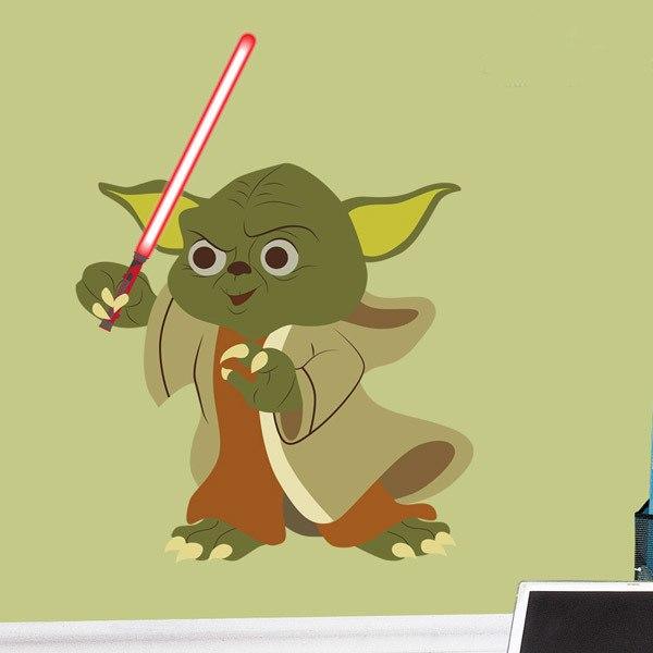 Kinderzimmer Wandtattoo: Yoda Schwert