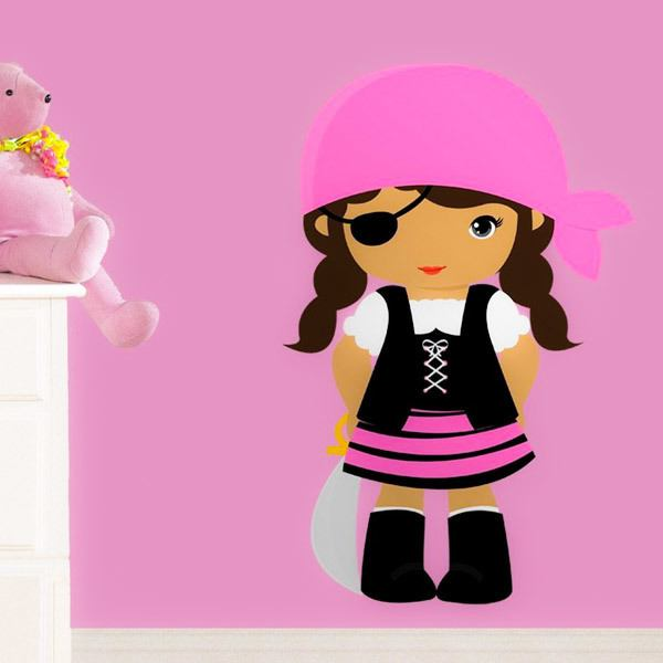 Kinderzimmer Wandtattoo: Buccaneer rosa Patch