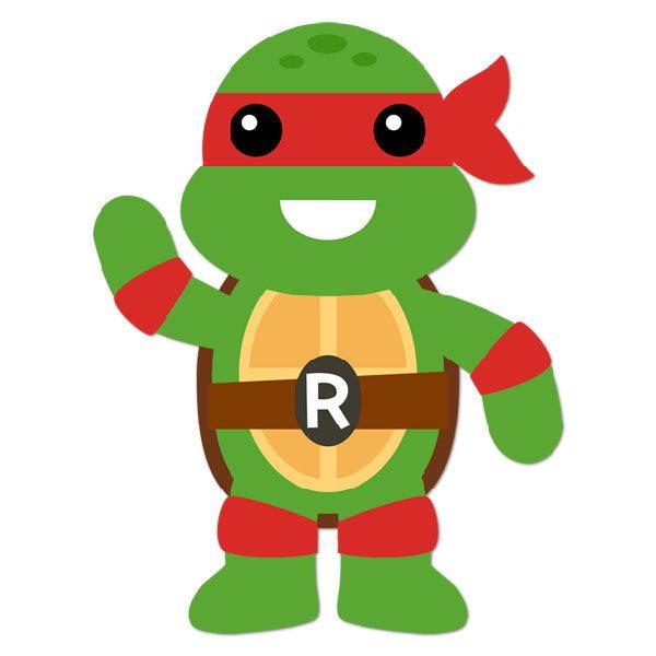 Kinderzimmer Wandtattoo: Ninja Turtle Rafhael