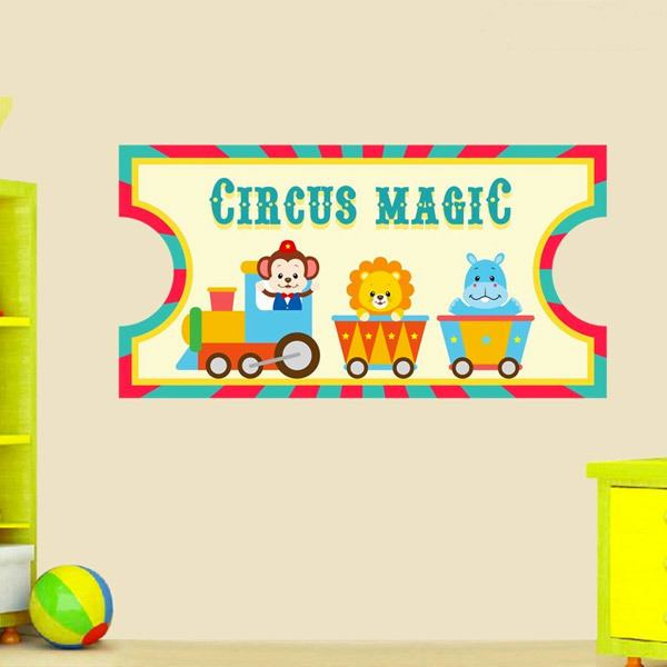 Kinderzimmer Wandtattoo: Circus Ticket 2 1