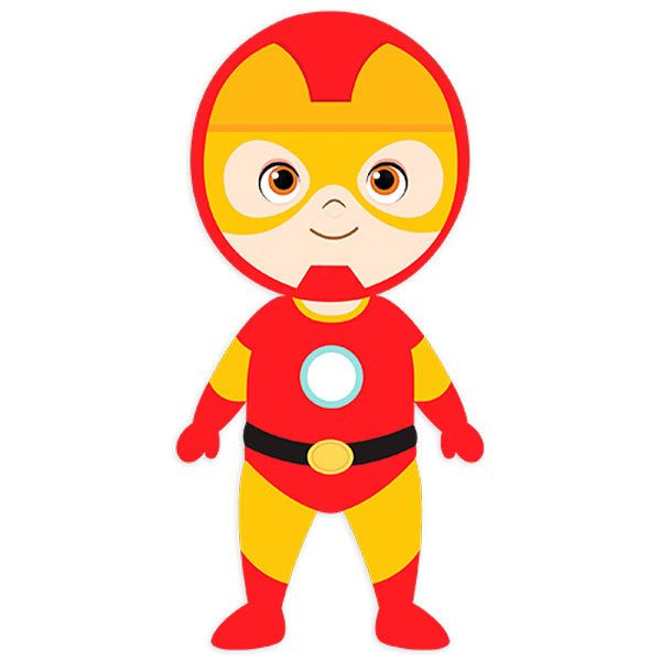 Kinderzimmer Wandtattoo: Ironman stehen