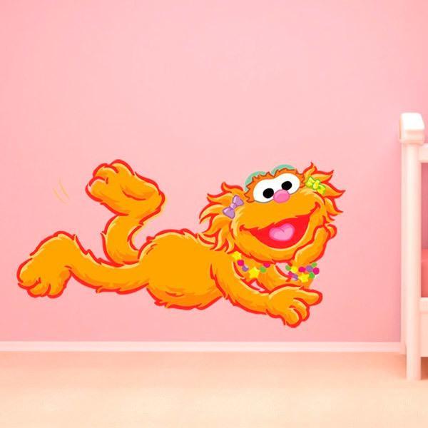 Kinderzimmer Wandtattoo: Zoe liegen