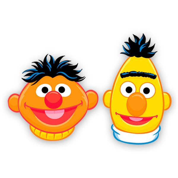 Kinderzimmer Wandtattoo: Ernie and Bert